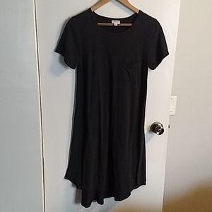 Lularoe charcoal gray t-shirt dress